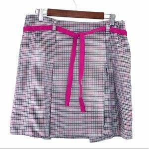 Old Navy Pink Tattersall Plaid Skirt